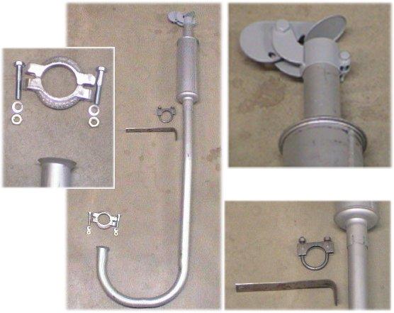 Vertical Tractor Mufflers : Ford n vertical exhaust muffler kit m ebay