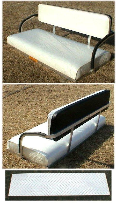 Fits EZ Go X444 Marathon Golf Cart Seat Kit White or Tan